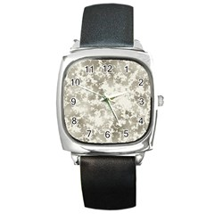 Wall Rock Pattern Structure Dirty Square Metal Watch