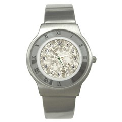 Wall Rock Pattern Structure Dirty Stainless Steel Watch