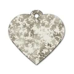 Wall Rock Pattern Structure Dirty Dog Tag Heart (One Side)