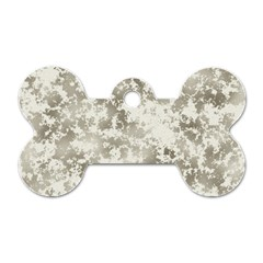 Wall Rock Pattern Structure Dirty Dog Tag Bone (one Side)