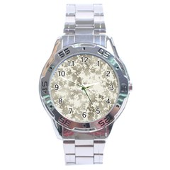 Wall Rock Pattern Structure Dirty Stainless Steel Analogue Watch