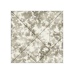 Wall Rock Pattern Structure Dirty Acrylic Tangram Puzzle (4  X 4 )