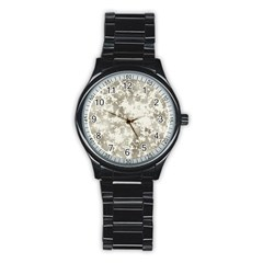 Wall Rock Pattern Structure Dirty Stainless Steel Round Watch