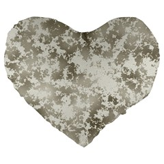 Wall Rock Pattern Structure Dirty Large 19  Premium Flano Heart Shape Cushions