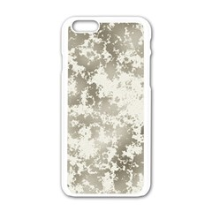 Wall Rock Pattern Structure Dirty Apple Iphone 6/6s White Enamel Case