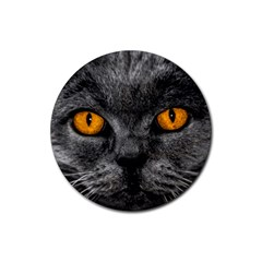Cat Eyes Background Image Hypnosis Rubber Round Coaster (4 pack)