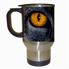 Cat Eyes Background Image Hypnosis Travel Mugs (white)