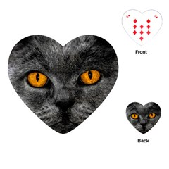 Cat Eyes Background Image Hypnosis Playing Cards (heart)