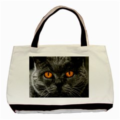 Cat Eyes Background Image Hypnosis Basic Tote Bag (two Sides)