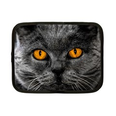 Cat Eyes Background Image Hypnosis Netbook Case (small)