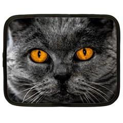 Cat Eyes Background Image Hypnosis Netbook Case (Large)
