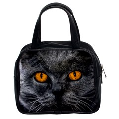 Cat Eyes Background Image Hypnosis Classic Handbags (2 Sides)