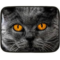 Cat Eyes Background Image Hypnosis Fleece Blanket (Mini)