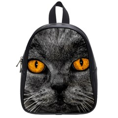 Cat Eyes Background Image Hypnosis School Bags (Small)