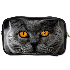 Cat Eyes Background Image Hypnosis Toiletries Bags