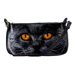 Cat Eyes Background Image Hypnosis Shoulder Clutch Bags