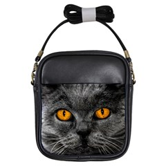 Cat Eyes Background Image Hypnosis Girls Sling Bags