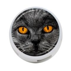 Cat Eyes Background Image Hypnosis 4-Port USB Hub (Two Sides)