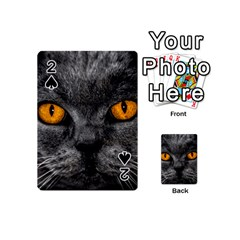 Cat Eyes Background Image Hypnosis Playing Cards 54 (Mini)