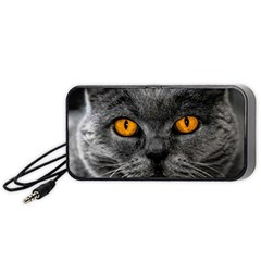 Cat Eyes Background Image Hypnosis Portable Speaker (Black)