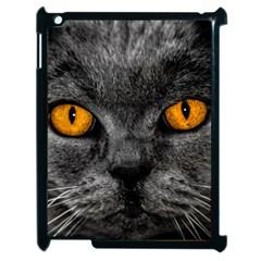 Cat Eyes Background Image Hypnosis Apple Ipad 2 Case (black)
