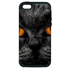 Cat Eyes Background Image Hypnosis Apple Iphone 5 Hardshell Case (pc+silicone)