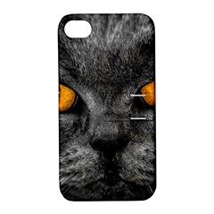 Cat Eyes Background Image Hypnosis Apple Iphone 4/4s Hardshell Case With Stand