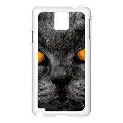 Cat Eyes Background Image Hypnosis Samsung Galaxy Note 3 N9005 Case (White)