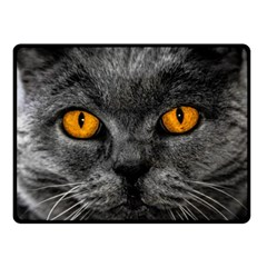 Cat Eyes Background Image Hypnosis Double Sided Fleece Blanket (Small)