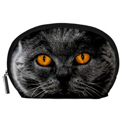 Cat Eyes Background Image Hypnosis Accessory Pouches (Large)