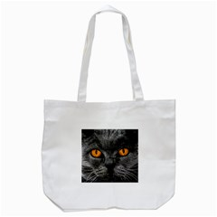 Cat Eyes Background Image Hypnosis Tote Bag (white)