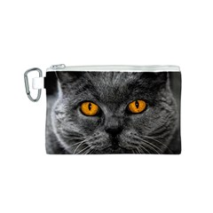 Cat Eyes Background Image Hypnosis Canvas Cosmetic Bag (S)