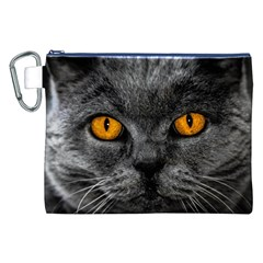 Cat Eyes Background Image Hypnosis Canvas Cosmetic Bag (XXL)