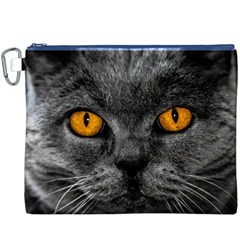 Cat Eyes Background Image Hypnosis Canvas Cosmetic Bag (XXXL)