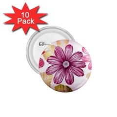Flower Print Fabric Pattern Texture 1 75  Buttons (10 Pack)