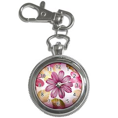 Flower Print Fabric Pattern Texture Key Chain Watches