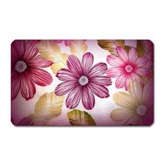 Flower Print Fabric Pattern Texture Magnet (Rectangular)