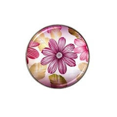 Flower Print Fabric Pattern Texture Hat Clip Ball Marker