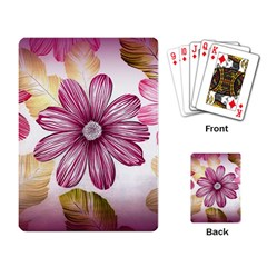 Flower Print Fabric Pattern Texture Playing Card