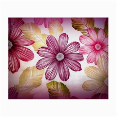 Flower Print Fabric Pattern Texture Small Glasses Cloth (2-Side)