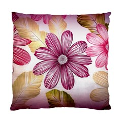 Flower Print Fabric Pattern Texture Standard Cushion Case (one Side)
