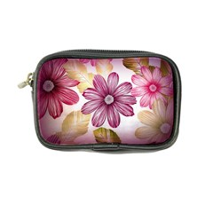 Flower Print Fabric Pattern Texture Coin Purse