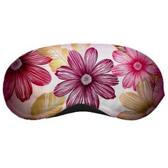 Flower Print Fabric Pattern Texture Sleeping Masks