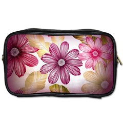 Flower Print Fabric Pattern Texture Toiletries Bags