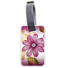 Flower Print Fabric Pattern Texture Luggage Tags (One Side)