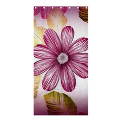 Flower Print Fabric Pattern Texture Shower Curtain 36  x 72  (Stall)