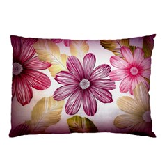 Flower Print Fabric Pattern Texture Pillow Case (two Sides)
