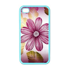 Flower Print Fabric Pattern Texture Apple iPhone 4 Case (Color)