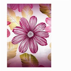 Flower Print Fabric Pattern Texture Small Garden Flag (two Sides)