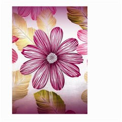 Flower Print Fabric Pattern Texture Large Garden Flag (Two Sides)